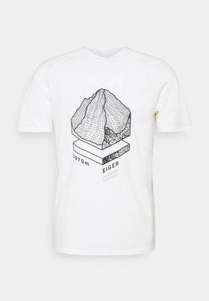 MOUNTAIN - T-shirt med print - bright white