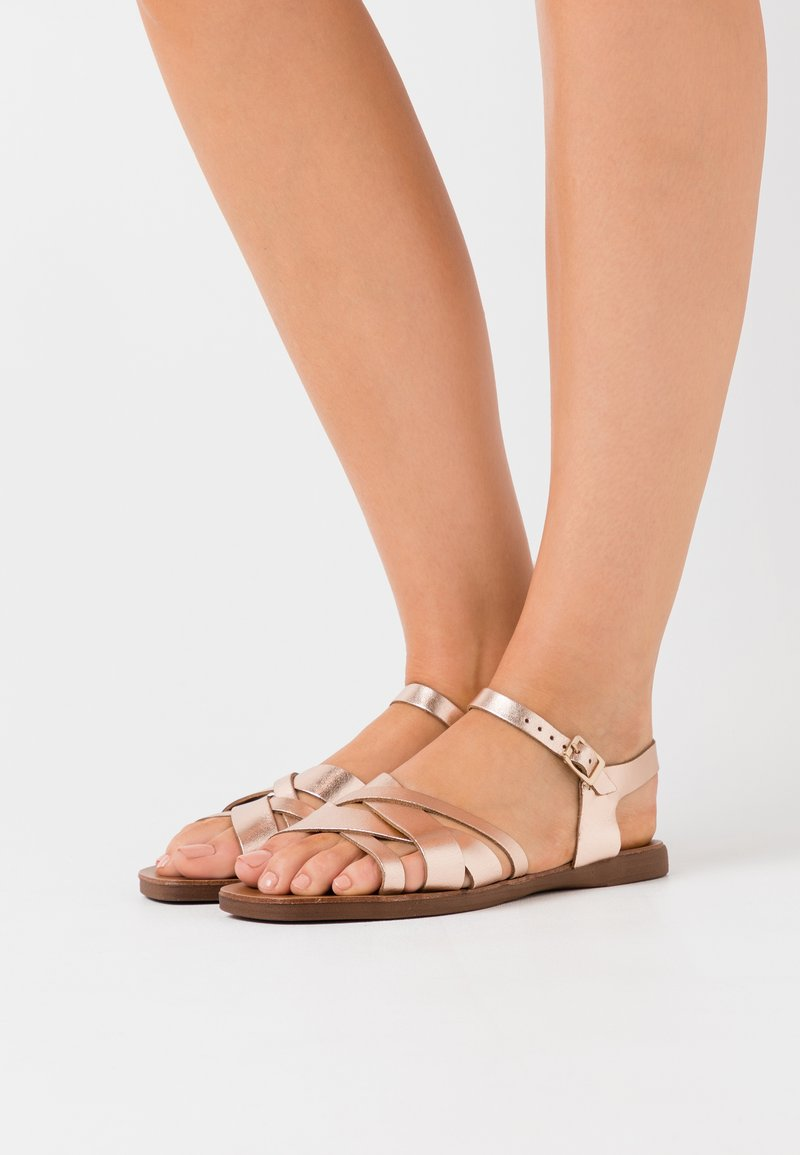 New Look Wide Fit - WIDE FIT GEANETTE 2 PART SANDAL - Sandales - rose gold
