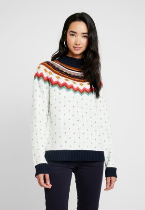 Strickpullover - cloud dancer/multi color