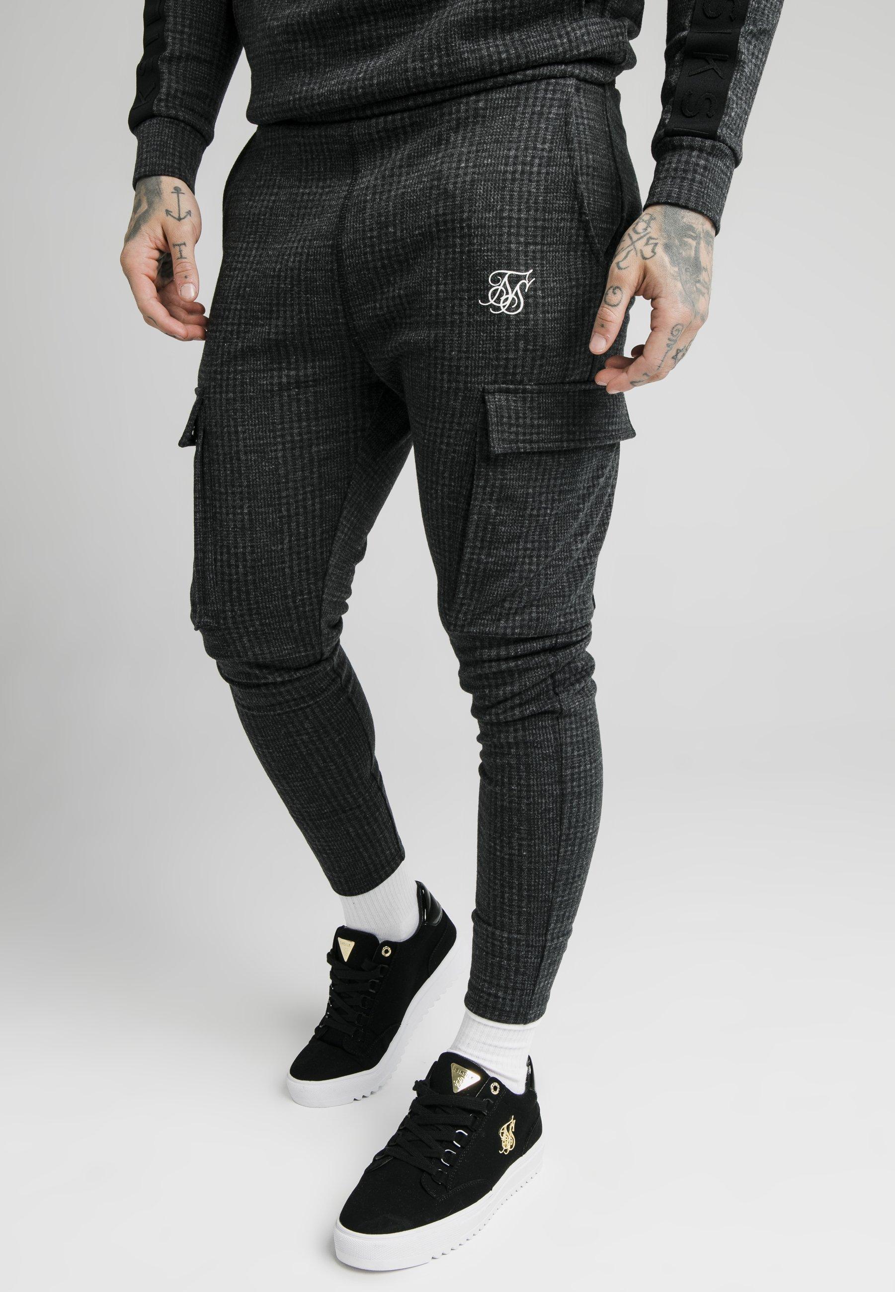 Homme TONAL CHECK CARGO PANT - Pantalon cargo