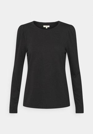 ALICIA PUFF SLEEVE TEE - Long sleeved top - true black