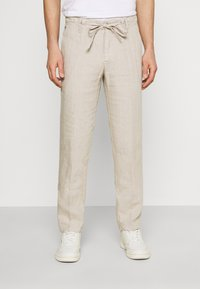 Marc O'Polo - TAPERED FIT PATCHED - Kalhoty - pure cashmere - 0