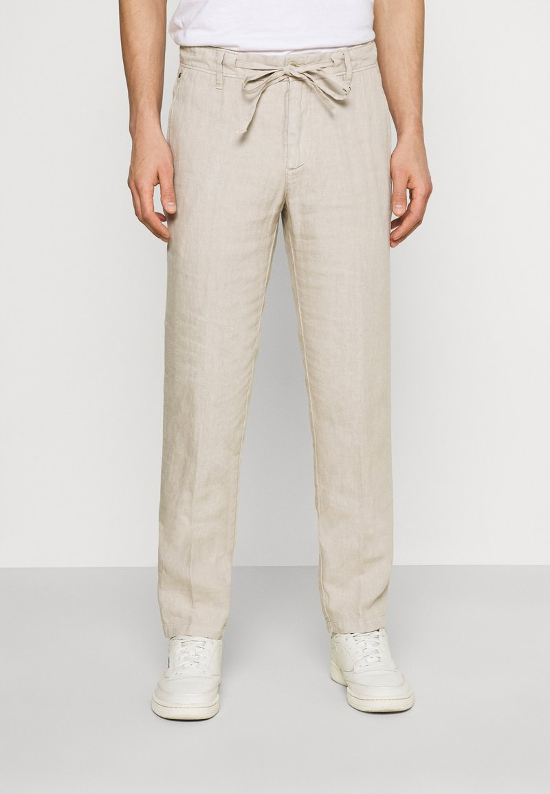 Marc O'Polo - TAPERED FIT PATCHED - Kalhoty - pure cashmere