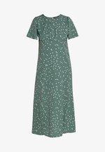 FLUTTER MIDI DRESS POLKA - Day dress - green