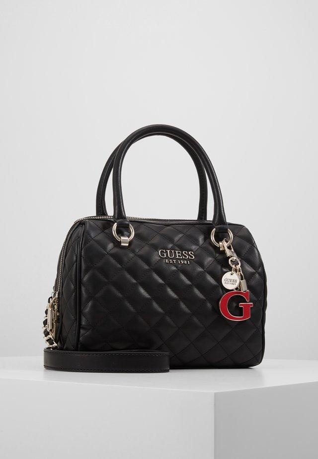 MELISE BOX SATCHEL - Handbag - black