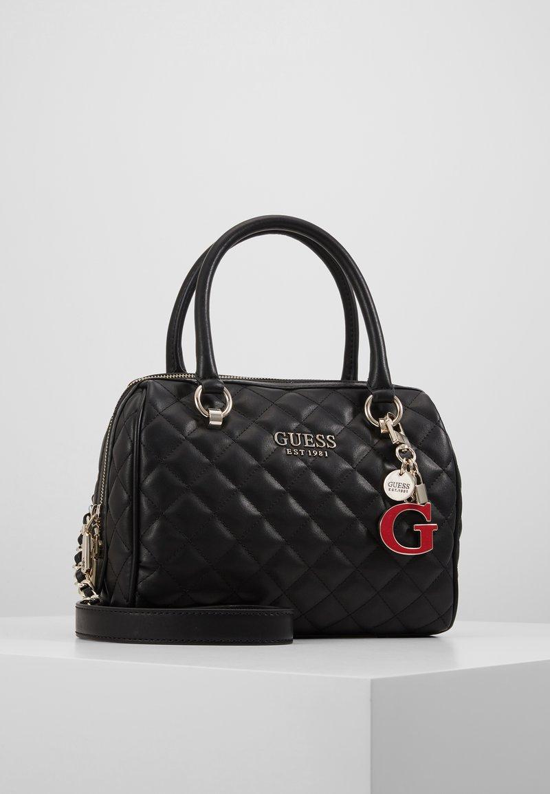 Guess - MELISE BOX SATCHEL - Handbag - black