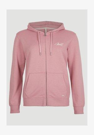 Zip-up hoodie - bridal rose