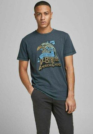 Print T-shirt - peacoat