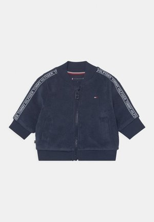 TAPED UNISEX - Sweater met rits - blue