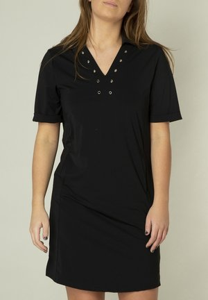 TERRA - Jersey dress - schwarz