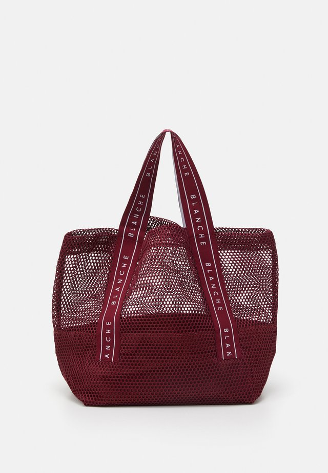 TOTE LOGO - Tote bag - bordeux