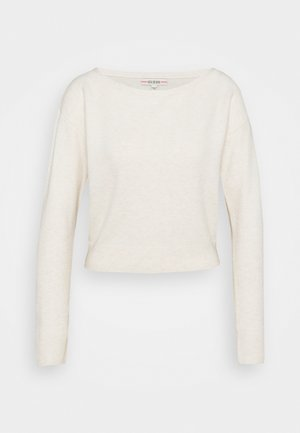 TANYA BOAT NECK - Jumper - oatmeal heather multi