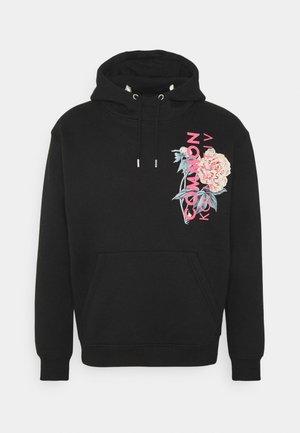 FLORAL HOODIE UNISEX - Sweatshirt - black