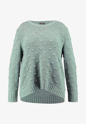 ALL-OVER POPCORN CREWNECK - Strikkegenser - eucalyptus