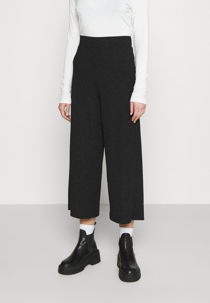 Monki - CILLA PARTY TROUSERS - Bukse - black