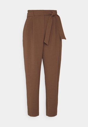 RAPHAELA PANTALONE SABLE FLUIDO - Trousers - brown