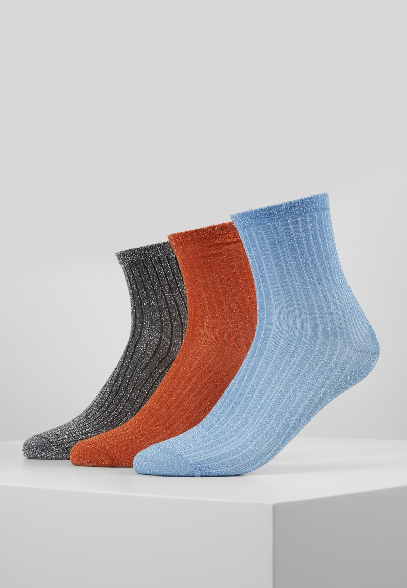 Becksöndergaard - DINA 3 PACK - Sokken - russet orange/light blue/silver