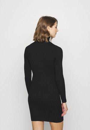 ONLELLY ROLLNECK DRESS - Jumper dress - black