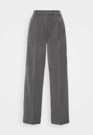 AMAN - Trousers - dark grey melange