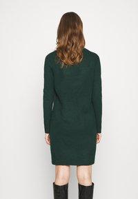 ONLY - ONLELENA DRESS - Jumper dress - green gables/black melange - 2