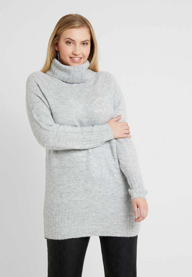 New Look Curves - ROLL NECK JUMPER - Pullover - mid grey