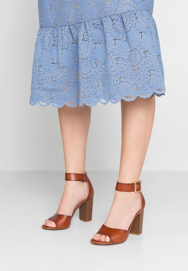 HARPER - High heeled sandals - cognac paris
