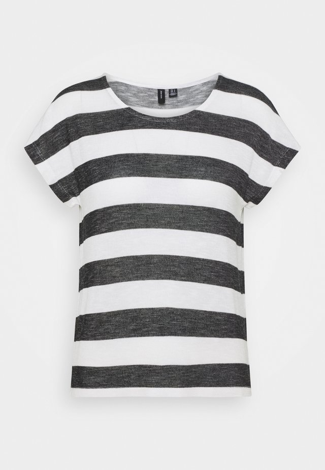 VMWIDE TOP - Print T-shirt - snow white/black