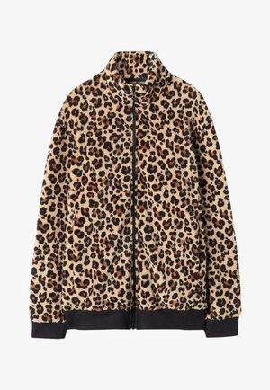 Fleece jacket - schwarz animal print