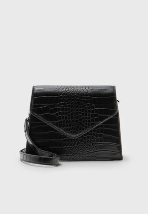 FLORA CROCO CROSS BODY - Across body bag - black