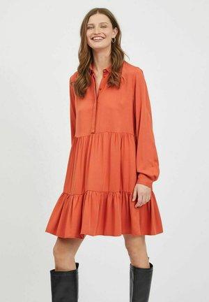 VIMOROSE SHIRT DRESS - Day dress - burnt ochre