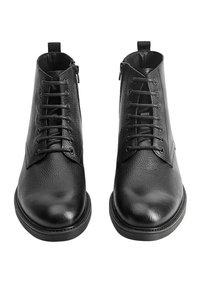 Mango - Lace-up ankle boots - black - 4
