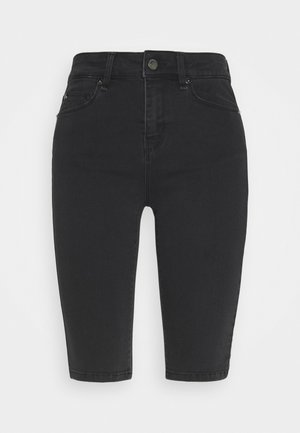 ALEXA KNICKERS WASH - Denim shorts - cool black
