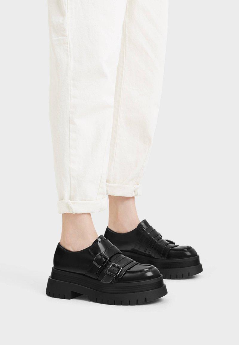 Bershka - Ankle boots - black