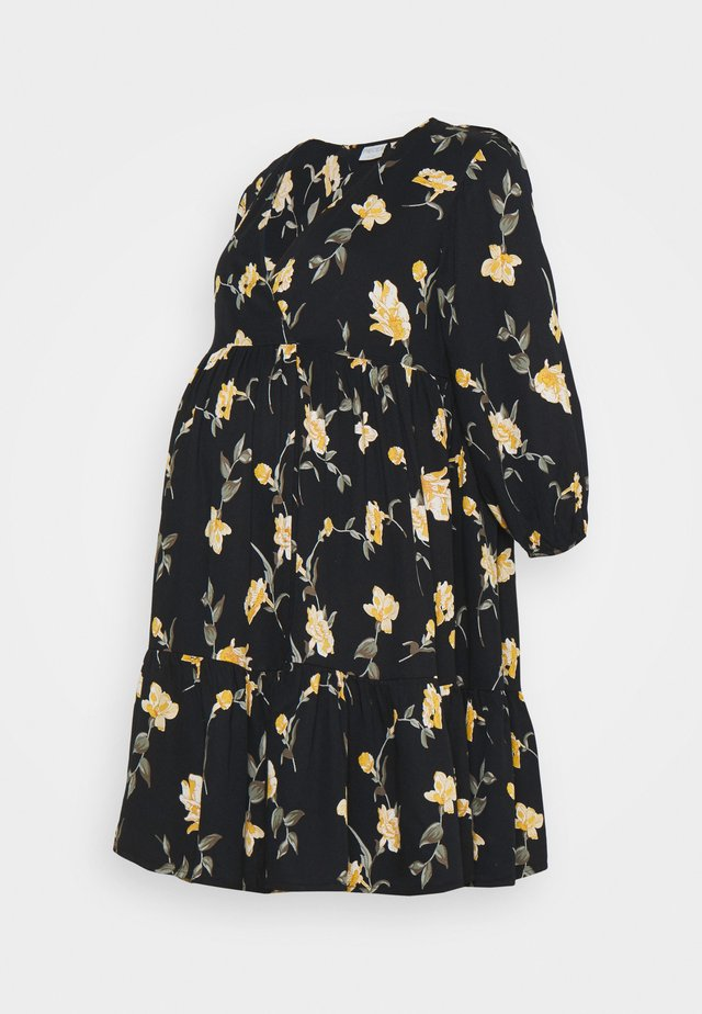 PCMGLYDA WRAP DRESS - Robe d'été - black
