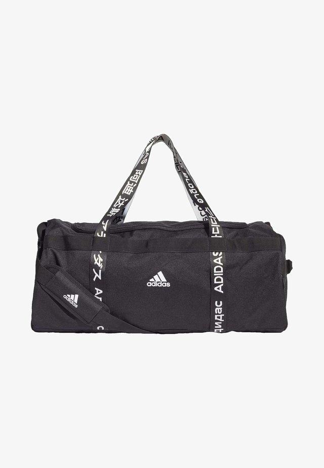 4ATHLTS 3 STRIPES DUFFEL BAG - Sporttas - black