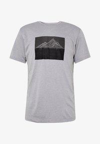 Salomon - AGILE GRAPHIC TEE  - T-Shirt print - alloy/heather - 3