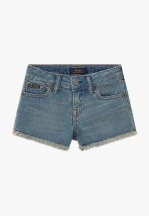 BOTTOMS - Shorts di jeans - dark-blue denim