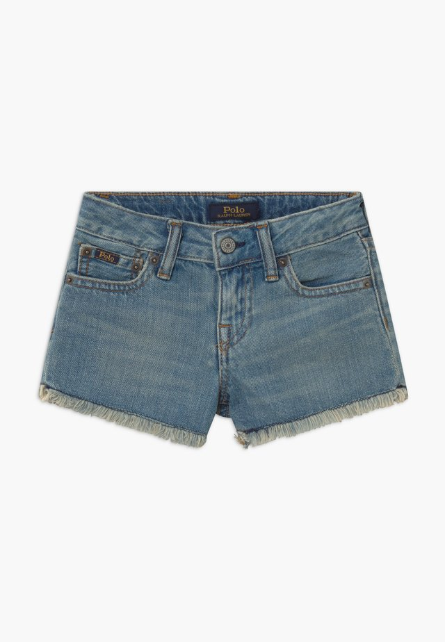 BOTTOMS - Denim shorts - dark-blue denim