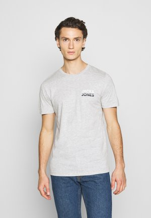 JJJACK TEE CREW NECK - T-shirt imprimé - light grey melange