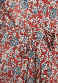 Lauren Ralph Lauren Woman - AMIT SHORT SLEEVE CASUAL DRESS - Day dress - red/multi - 5