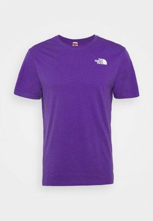 DISTORTED LOGO - T-shirt med print - peak purple/black
