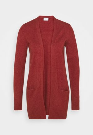 VIRIL OPEN - Cardigan - red dahlia melange