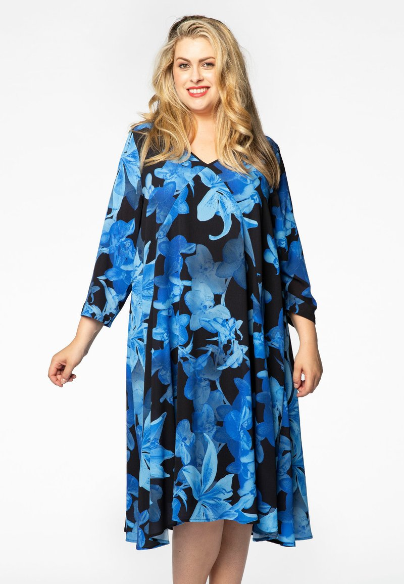 Yoek - Day dress - blue/black