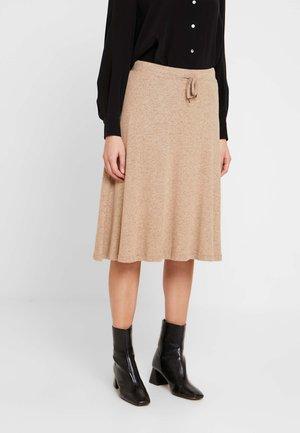 KATLINDACR SKIRT - A-line skirt - camel