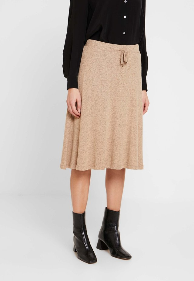 KATLINDACR SKIRT - A-Linien-Rock - camel