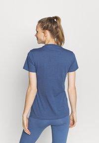 adidas Performance - T-shirt print - blue - 2