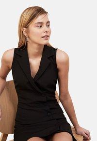 Trendyol - Shirt dress - black - 4