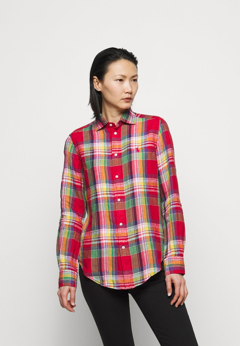 Polo Ralph Lauren - PLAID - Button-down blouse - red/pink