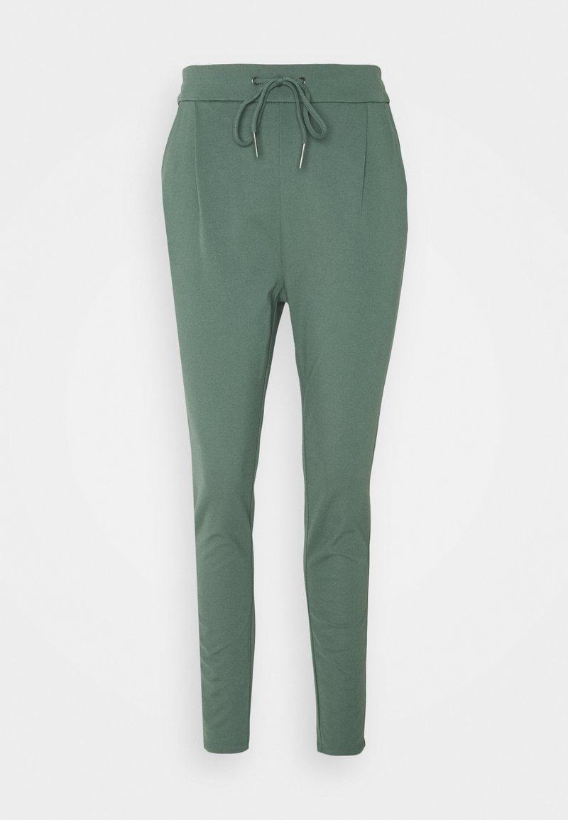 Vero Moda Tall - VMEVA LOOSE STRING PANTS  - Trousers - balsam green