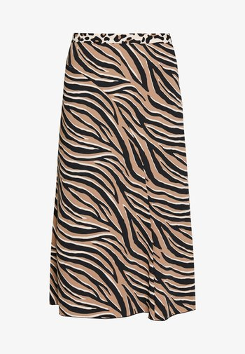 A-line skirt - beige/black